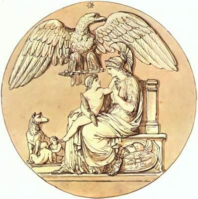 Die Göttin Roma und der König von Rom Museo Napoleonico