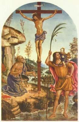 Der Gekreuzigte zwischen den Hll. Hieronymus und Christophorus Galleria Borghese