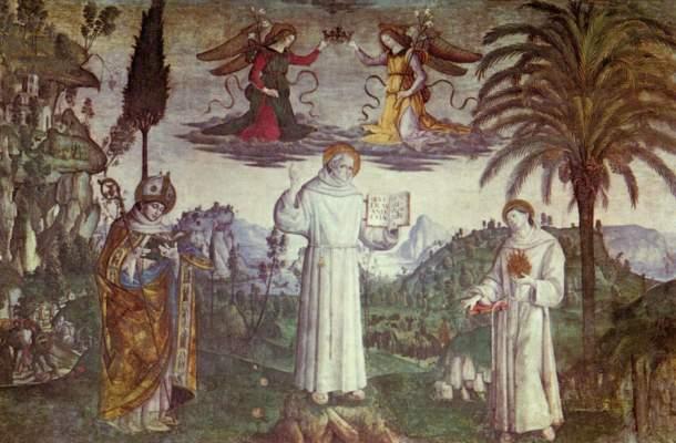 Hl. Bernhardin und zwei Heilige (Ausschnitt) S. Maria in Aracoeli