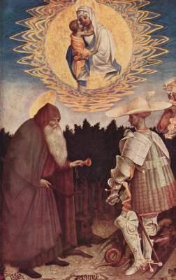 Maria erscheint den Hll. Antonius und Georg National Gallery