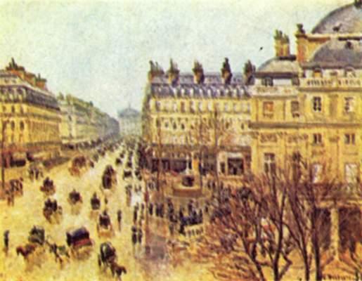 Avenue de l'Opera, Paris im Regen Institute of Arts