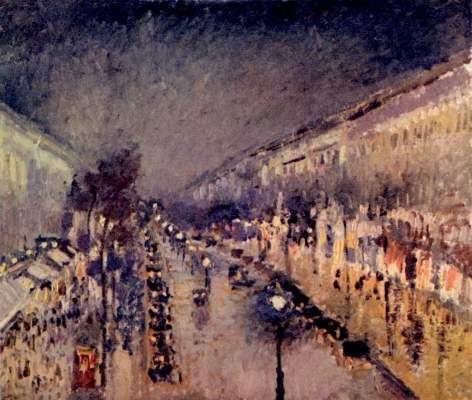 Boulevard Montmartre in der Nacht National Gallery
