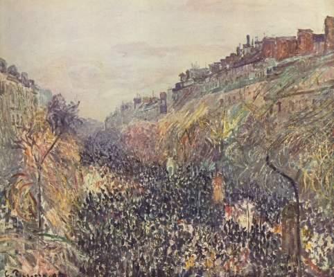 Faschingsdienstag auf dem Boulevard Montmartre bei Sonnenuntergang Kunstmuseum