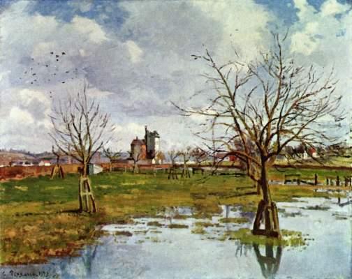 Landschaft mit überfluteten Feldern Wadsworth Atheneum