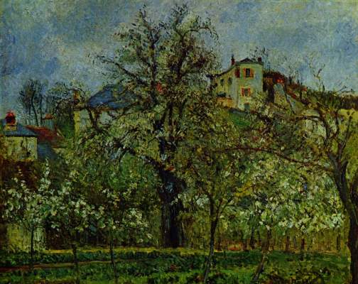 Obstgarten mit blühenden Bäumen, Frühling, Pontoise Musée National du Louvre
