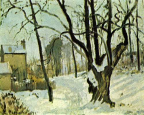 Schnee in Louveciennes Privat-Slg.