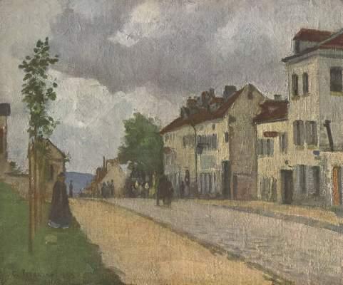 Straße in Pontoise (Rue de Gisors) Österreichische Galerie