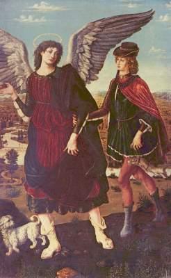 Tobias und der Engel (in Zusammenarbeit mit Piero del Pollaiuolo) Pinacoteca Nazionale