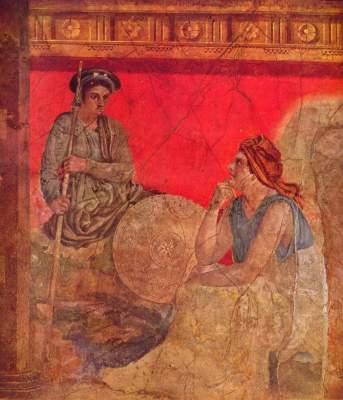 Antigonos und seine Mutter (Ausschnitt) Galleria Nazionale di Capodimonte