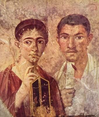 Paquius Proculus und seine Frau (Wandbild aus Pompeji) Galleria Nazionale di Capodimonte