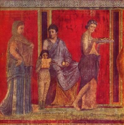 Verlesung des Rituals der Brautmysterien (Ausschnitt) Villa dei Misteri