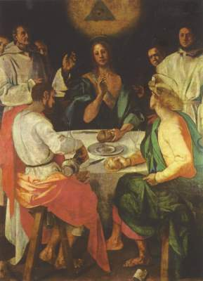 Christus in Emmaus Galleria degli Uffizi