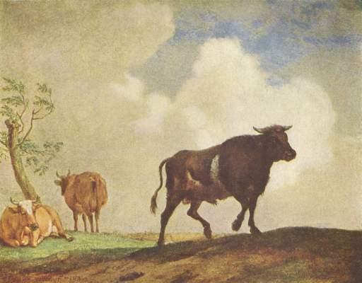 Stier und Kühe Bode-Museum