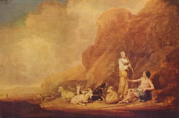 Hirtenjunge und Hirtenmädchen Museum der Bildenden Künste