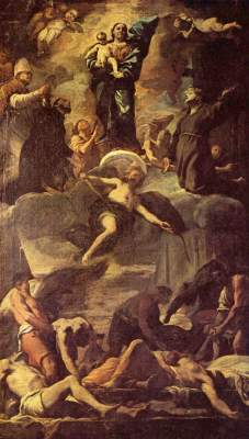 Entwurf für das Pest-Fresko Galleria Nazionale di Capodimonte