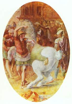 Alexander zähmt den Bukephalos Schloß