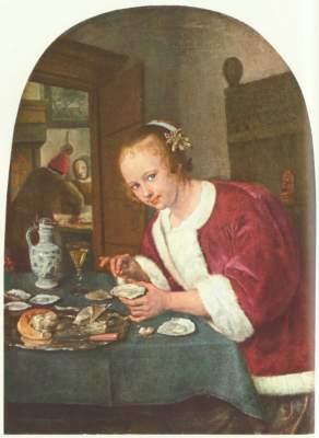 Mädchen mit Austern Königliche Gemäldegalerie Mauritshuis